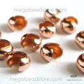 3mm Rose Gold Filled Bead Covers   25 pcs
