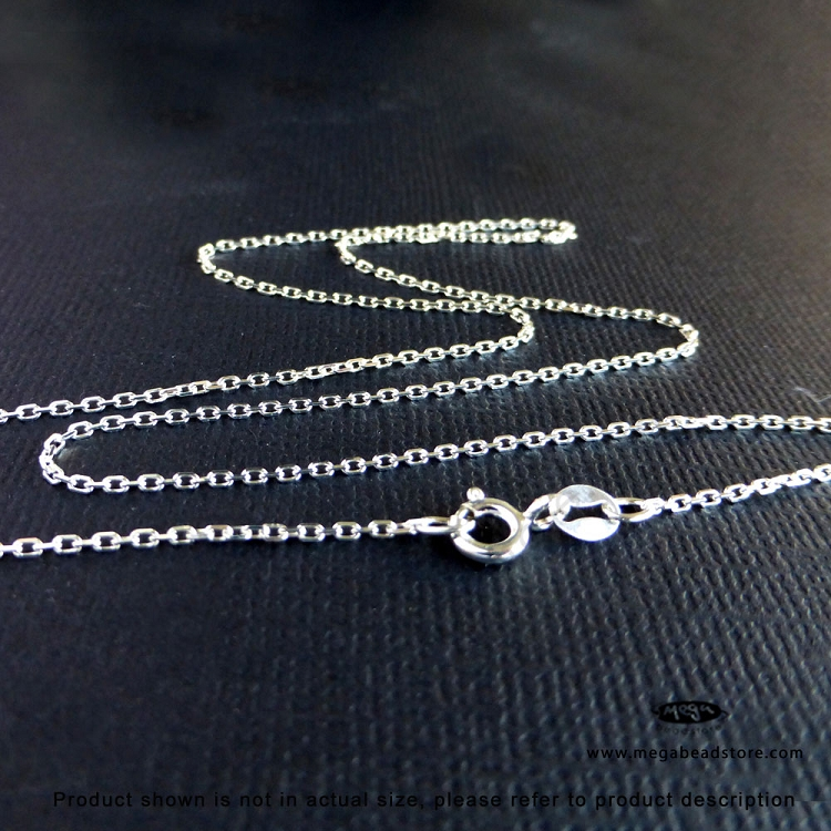 cable necklace silver fine dp chain inches plated long links