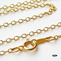 16 in Cable Chain 14K Gold Filled Finished Chain