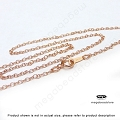 16 in Cable Chain 14K Rose (Pink) Gold Filled Finished Chain