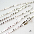 18 in. Flat Cable Sterling Silver Finished Chain