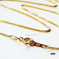 0.85mm Box Chain14K Gold Filled Finished   16 in.