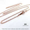 18 inch 1.1mm Cable Chain Finished Necklace 14K Rose (Pink) Gold Filled (FC24RGF)