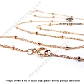 18 inch 1.9mm Bead Satellite Chain Finished Necklace 14/20 Rose Gold Filled (FC25)