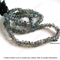 3mm Labradorite Faceted Rondelle Beads   13.5 in. str.