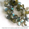 10x7 Faceted Tear Drop Labradorite Beads   10 in. str.