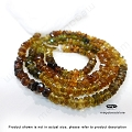 3mm Tourmaline Golden Brown Color Faceted Rondelle Beads   13 in. str