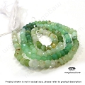 3mm Sea Green Chrysoprase Faceted Rondelle Beads   13.5 in. str