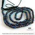 2.5mm Mystic Spinel (Black) Faceted Beads   13 in.
