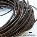 4mm Brown Greek Leather Cord - 5 ft