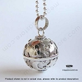16mm Moon and Star Harmony Ball Sterling Silver Pendant (P51)