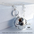 16mm Little Stars Harmony Ball Sterling Silver Pendant (P68)