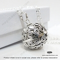 20mm Harmony Ball Sterling Silver Pendant (P74)