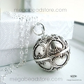 20mm (Hearts) Large Harmony Ball Bali Sterling Silver Bola (P80)