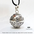 16mm Mums Flower Harmony Ball Sterling Silver Pendant (P81)