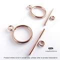 11mm 14K Rose (Pink) Gold Filled Toggles   (T127RGF) - 1 set