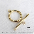 15mm Gold Filled Toggles   (T130GF) - 1 set