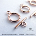 9mm 14K Rose (Pink) Gold Filled Toggles   (T132RGF) - 1 set