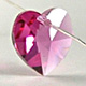 Fuchsia   Heart   10mm   1 pc