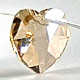 Golden Shadow   Heart   10mm   1 pc