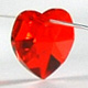 Light Siam (Red)   Heart   10mm   1 pc