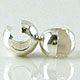 4mm Sterling Silver Crimp Bead Covers (F59) - 20 pcs