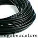 1.5mm  Black Greek Leather Cord - 10 ft