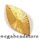 F98V Vermeil Leaves Dangle   18.5 x 10 x 0.5mm