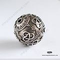 23mm Large Focal Bali Sterling Silver Beads  (B89)