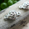 7mm Rose Connector Sterling Silver F199