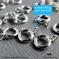 5.5mm  Spring Ring (Closed) Sterling Silver Clasp (F286) -20 pcs