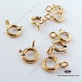 7mm Spring Clasp 14K Gold Filled open loop (F286GF)