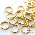 6mm 14K Gold Filled Sparkle Jump Rings Closed F30GF -  10 pcs