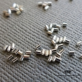 1.1mm x 1.5mm Sterling Silver Micro Crimp Tube Beads (F32) - 500 pcs