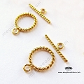 11mm Twisted 14K Gold Filled Toggles (T133GF) - 1 set