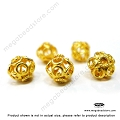 9mm Gold Plated Sterling Silver Beads (B216V)