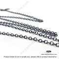 2mm x 1.6mm Oxidized Sterling Silver Cable Loose Chain (CH72Z)   1 ft