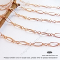 3+1 (7.5mm) Long and Short Rose Gold Filled Loose Chain (CH73RGF) - 1 ft