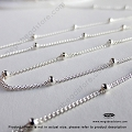 1.9mm Bead Satellite Chain Sterling Silver  (CH79)