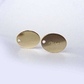 7.5x 5.5mm Oval Tag 1/20 14K Gold Filled Polished Blank Disc (F399GF) - 10 pcs