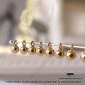 3mm Plain Round Ball Drops 14K Gold Filled Charms (F01GF) -  10 pcs