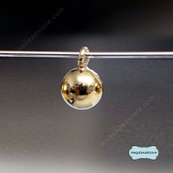 4mm Plain Round Ball Drops 14K Gold Filled Charms (F01GF) -  10 pcs