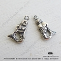 Mermaid Sterling Silver Charm 14mm x 7mm x 2mm (F122)