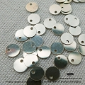 6mm Sterling Silver Disc Charm (F164) - 20 pcs