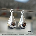 18mm Tear Drop Sterling Silver Dangle (F165) - 1 pc