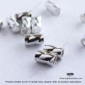 3mm x 2mm Sterling Silver Twisted Crimp Tube (F22)- 100 pcs