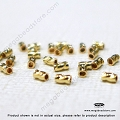 3mm x 2mm Twisted Crimp Tube Beads 14K Gold Filled 14/20 (F22GF) - 50 pcs
