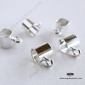 925 Sterling Silver Charm Holder Open Loop-  5 pcs