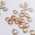 3mm 22 Gauge Closed (Soldered) Gold Filled Jump Rings Open (F29GFC) -50 pcs