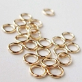 4mm 22 Gauge Closed (Soldered) Gold Filled Jump Rings Open (F29GFC) -50 pcs